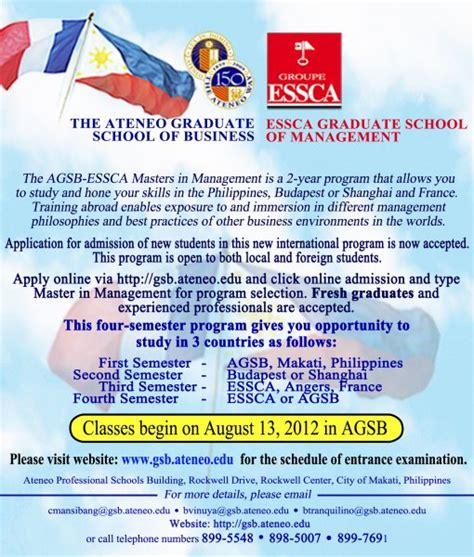 Ateneo Mba Requirements by Partnership Ateneo Graduate School Of Business
