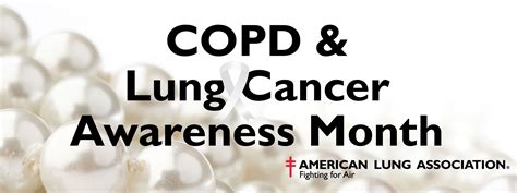 lung cancer awareness month november is copd and lung cancer awareness month the