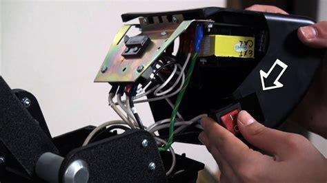 hotronix video shows   change  heat press onoff switch