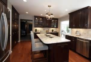 kitchen average kitchen design with dark wood kitchen