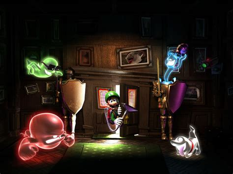 Dining Room Luigi S Mansion Moon Mario Desktop Wallpaper From Nintendo 3ds