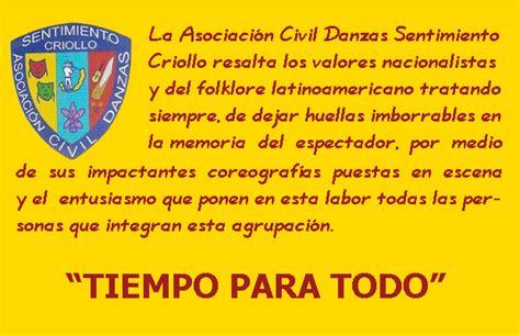 lemas criollos danzas sentimiento criollo