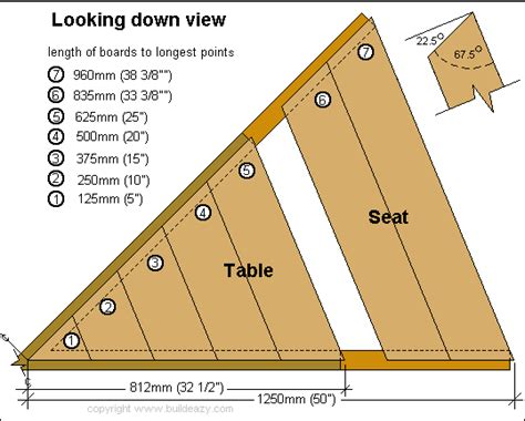 octagon picnic table plans pdf free eight sided octagonal picnic table plans page 1