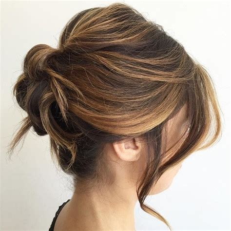 easy updo hairstyles for thin hair 54 easy updo hairstyles for medium length hair in 2017