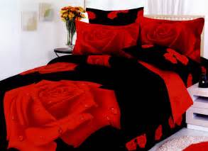 Red And Black Duvet Sets Night Rose Gullu Black Queen Size By Le Vele Red And