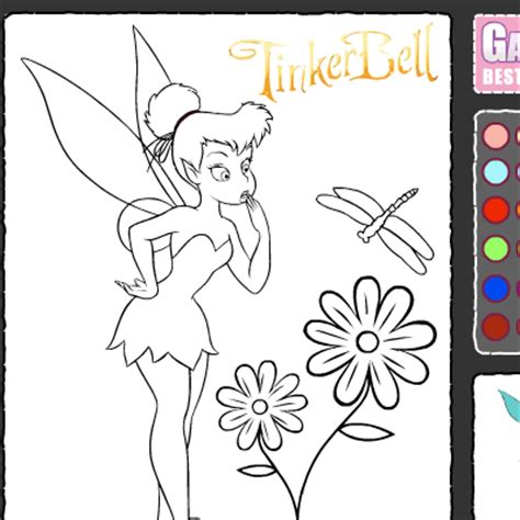 coloring pages and games tinkerbell coloring games coloring pages to print