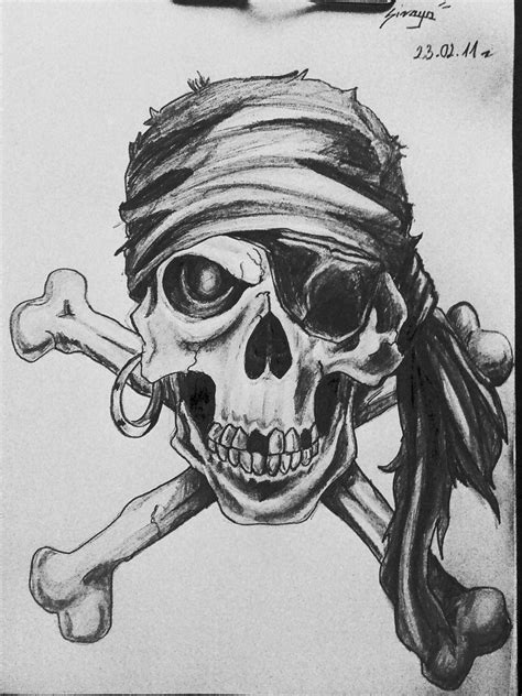 pirate skull by sirayachin on deviantart