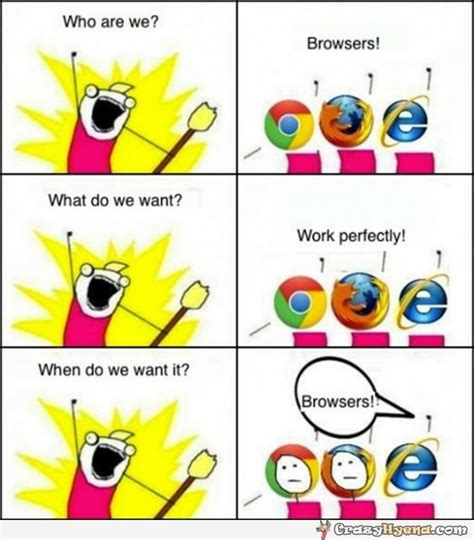 Who Are We Browsers Meme - internet explorer joke