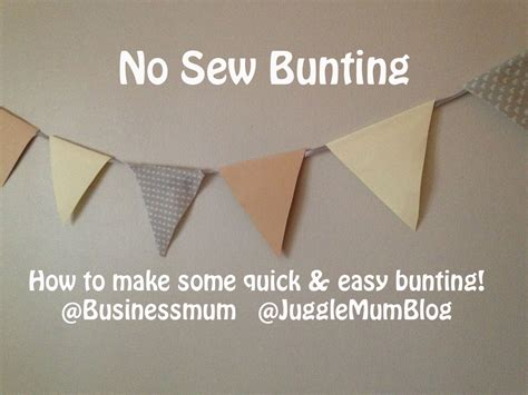 Make A Paper Banner - how to make easy bunting jugglemum