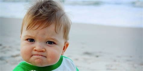 Triumphant Baby Meme - success kid sam griner needs help to get his dad a new