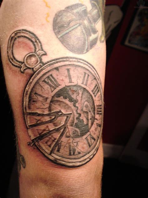 clock tattoos meaning half sleeve grey ink clock