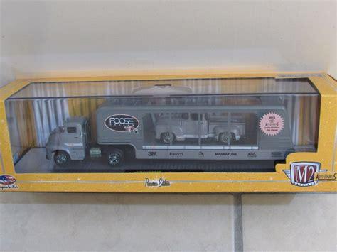 M2 Auto Haulers 1956 Ford C 500 Coe Shelby Cobra Trailer m2 machines 1956 ford c 500 coe 1956 f100 truck foose