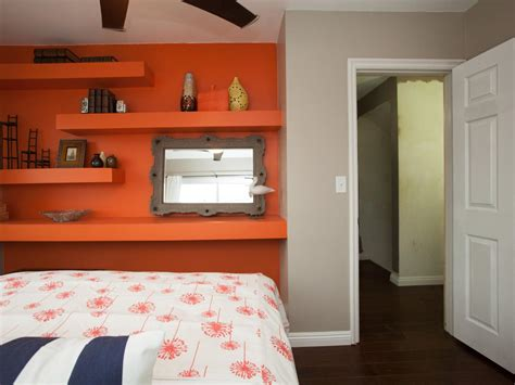 bedrooms with orange walls photos hgtv