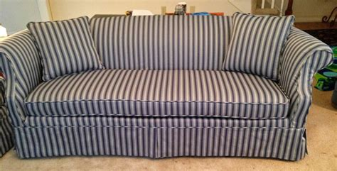 pam morris sews striped traditional sofa loveseat