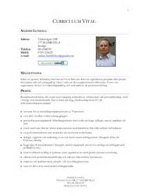 Curriculum Vitae In English Examples by Cv Anders Lundell Svenska