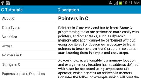 tutorial c programming c language tutorials android apps on google play