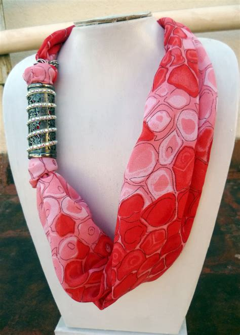 how to make scarf jewelry scarf necklace