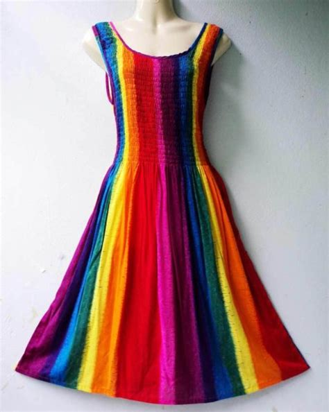 rainbow colored dresses rainbow dress lots of color