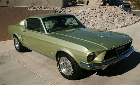 1967 ford mustang fastback green lime gold green 1967 ford mustang fastback