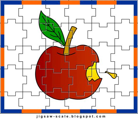 printable jigsaw puzzle for preschoolers printable jigsaw puzzle for kids apple jigsaw
