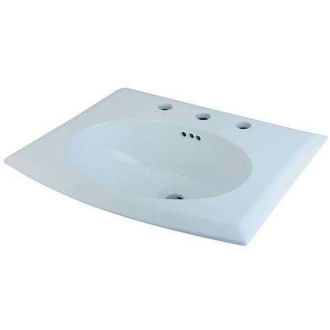 home depot drop in bathroom sinks white ceramic drop in self sinks