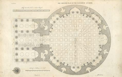 pantheon floor plan decorative arts les edifices antiques de rome of the pantheon plates
