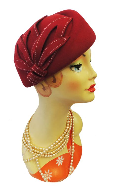New Vintage Hats At Candysayscouk by New Vintage 1940 S 50s Style Felt Appliqu 233 Cloche