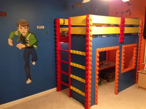 diy lego room decor my s lego themed loft bed i created completed lego lofts and lego bedroom