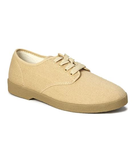 beige oxford shoes zig zag canvas oxford shoes beige winos sizes 6 5 13 new