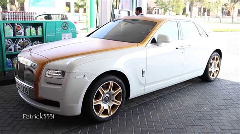 rolls royce gold and white rolls royce ghost don casanova edition in matte gold white