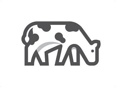 logo design for milk 25 modern cow animal logo design exles for inspiration
