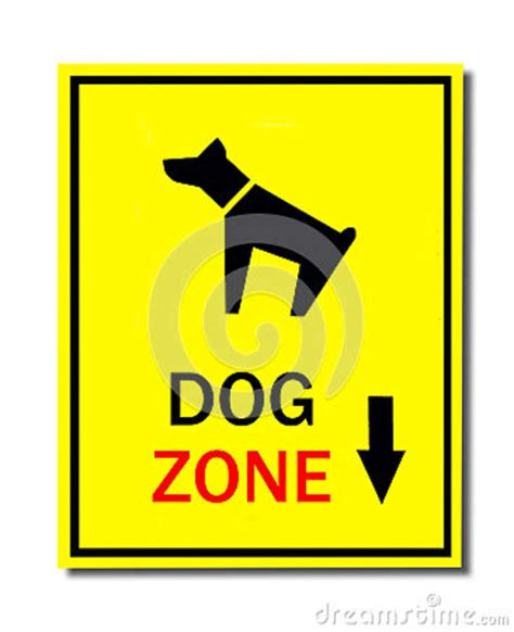 puppy zone sign of zone royalty free stock image image 34848706