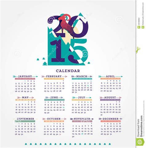 typography 2015 calendar 2015 calendar stock illustration image 49189862