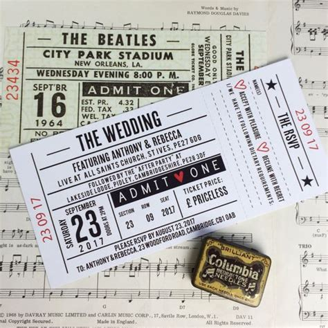 gig ticket template wedding invitations gig concert ticket design