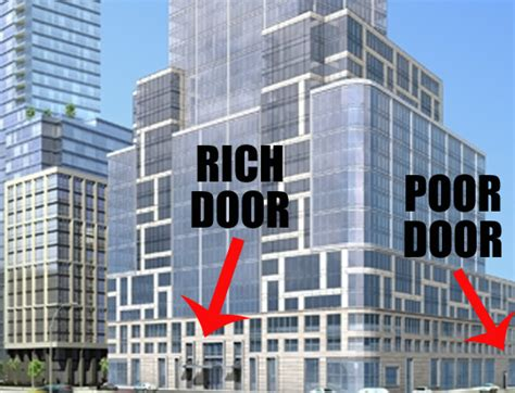 low income housing nyc what is a quot poor door quot and why is it causing so much