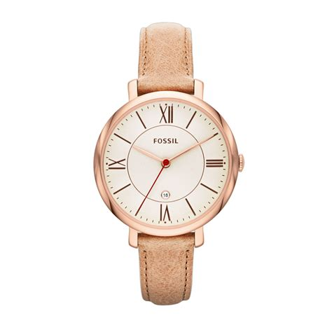 fossil es3487 jacqueline sand leather in