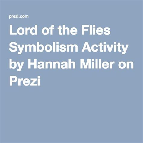 lord of the flies themes lesson plans lord of the flies symbolism activity by hannah miller on