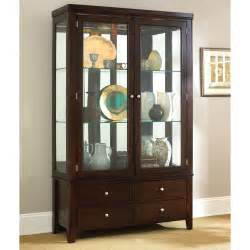Ideas Design For Lighted Curio Cabinet Steve Silver Wilson Curio Cabinet Espresso Curio Cabinets At Hayneedle