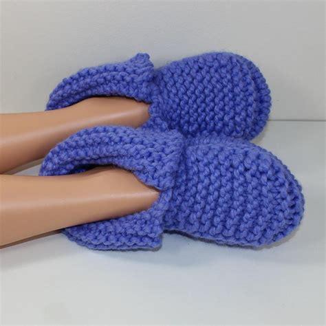 knitting pattern socks chunky adult super chunky slippers knitting pattern by madmonkeyknits