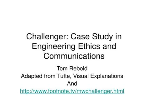 ppt challenger study in engineering ethics and