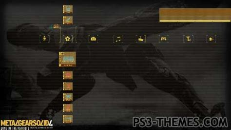 themes ps3 dynamic ps3 themes 187 mgs4 solid snake dynamic