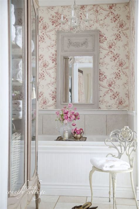 country bathroom mirrors french country cottage black white dishes red toile in