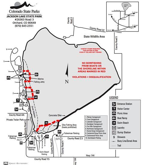 jackson lake state park permitted areas day colorado
