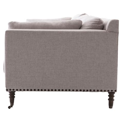 Turned Sofa Legs by Norman Modern Classic Taupe Turned Leg Sofa Kathy Kuo Home