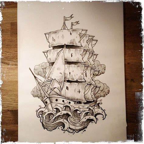 tattoo drawings designs and sketches sailing ship ideas sail ship design for rosie s