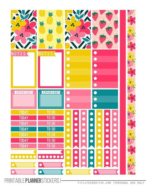 happy planner printable free weekly planner printables free for your happy planner