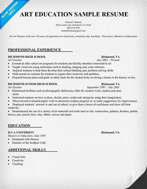 resume education exle resume sle for education resumecompanion