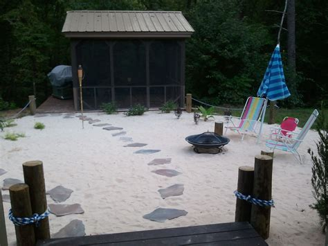 Sand In Backyard by Thriftionary August 2012