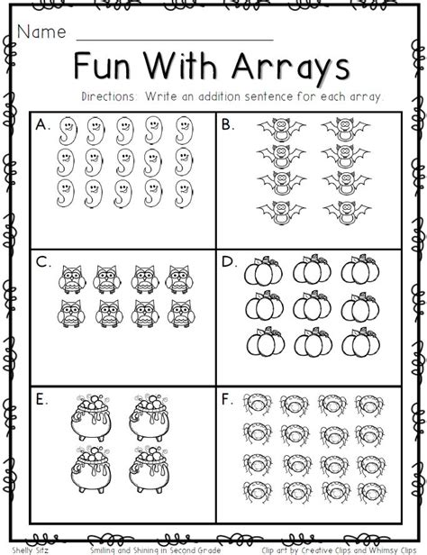 smiling and shining in second grade with arrays