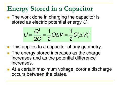 maximum voltage rating of capacitor ppt combinations of capacitors energy stored in a charged capacitor powerpoint presentation